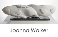 Sculptures by Joanna Walker and Stephanie Cushing.