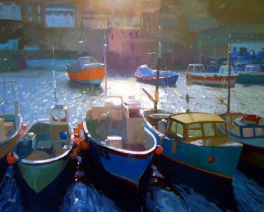 jenny_aitken-FishingBoatsMevagissey