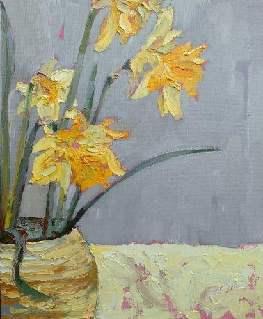jill_hudson-DaffodilsinEarthenwarePot