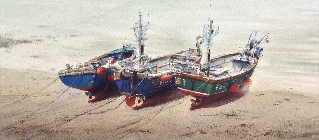 John_Hopkins-Three Fishing Boats